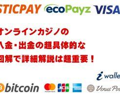 オンラインカジノの入金・出金
